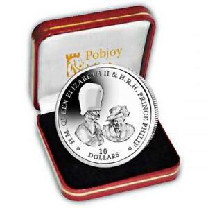 "British Virgin Islands 2017 Platinum Wedding ""Buckingham Palace"" Silver Coin"