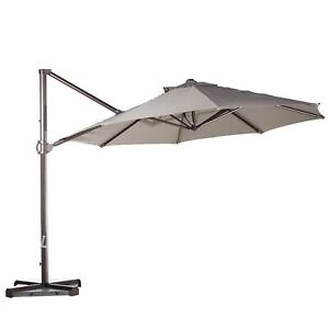 11ft Cantilever Supported Bar Umbrella 8 Rib Replacement Canopy