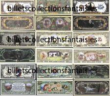 Lot de 9 Billets différents : Série Les ANIMAUX # 3. Commémoration / Collection