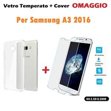 Cover Case TPU + Film Glass Tempered for Samsung Galaxy A3 2016