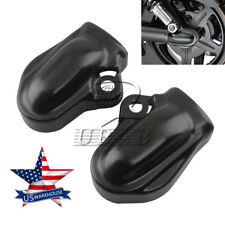 Pair Black Bar & Shield Rear Axle Cover swingarm For Harley VRSC V-Rod 02-17 US