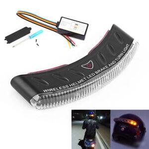 12V Casque Moto Stop Frein Sans Fil Lumière Casque de Moto LED Turn Signa Set