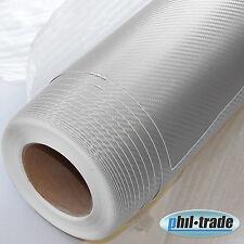 Carbon Folie silber grau 1x 1,5 m Carbon Look Wrapping 3D Struktur blasenfrei
