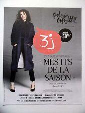PUBLICITE-ADVERTISING :  GALERIES LAFAYETTE 3j 2015 Mademoiselle Agnès Haussmann