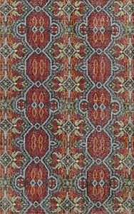 Geometric Oushak Oriental Area Rug Vintage Style Hand-knotted Wool Carpet 6x9