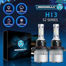 1Pair COB LED Headlight Kit 1300W H13 9008 Hi/Low Beam Dual 6000K 195000LM Bulbs