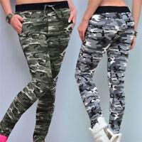 Women's Fashion Camouflage Harem Sweatpants Jogger Loose Female  Waist Pants_ SI