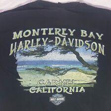 Harley Davidson Monterey Bay Carmel California Two Sided T-Shirt Size Large