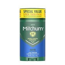 Mitchum Antiperspirant Deodorant Men Triple Odor Defense Invisible IceFresh 2-Pk
