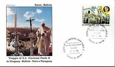 241- FDC VATICAN VISITE PAPE JEAN PAUL II   EN  BOLIVIE