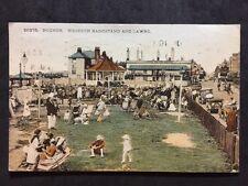 RP Vintage Postcard - Sussex #C4 - Bognor, Western Bandstand & Lawns 1928