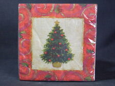 """American Greetings Set of 16 Christmas Paper Luncheon Napkins 12.75"""" x 12.75"""""""
