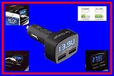 Voltmeter auto 12v 24v CAMION TESTER BATTERIA CARICABATTERIE USB LED ACCENDISIGARI