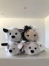 Disney Authentic 101 Dalmatians Full Set Of Original Tsum Tsum Plush 3 1/2