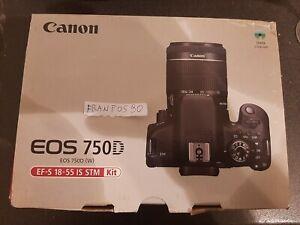 Canon EOS 750D 24.2Mpx Fotocamera Digitale Reflex Kit con EF-S 18-55 mm IS Nuova