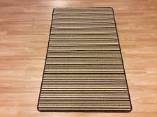 Crucial Trading Striped Missisipi Coffee Cream Wool Carpet Rug 93x150cm 60%OFF