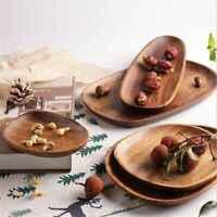 Wooden Dessert Irregular Plates Wood Creativity Tableware Coffee Dinner Plate