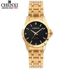 Top Fashion Brand Luxury CHENXI Womens Watch Golden Strap Waterproof Female Gift