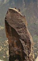Std Chrome Postcard CA G464 Lost Arrow Spire Yosemite National Park Climbers
