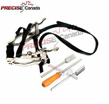 Equine Dental Kit Set Speculum Horse Mouth Gag Float Steel Leather Mcpherson