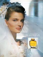 ▬► Parfum Perfume Estée LAUDER Beautiful Original French Print ad Publicité 1989