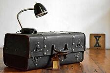 Koffer Schwarz Antik Vintage Alt Oldtimer Loft Bauhaus Art Deco Reisekoffer