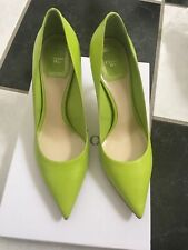 NIB 100% AUTH Christian Dior Cherie Fluo Green Leather Pointy Pumps 8CM $650