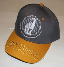 Bundaberg Rum Logo Mens Grey Gold Embroidered Cap Hat One Size New