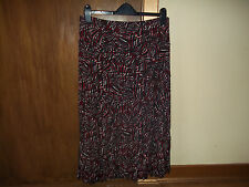 womans multi coloured flippy/full skirt size 14/16 approx in v good condition