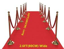 16FT Hollywood Party Red Carpet Floor Runner Hollywood Awards Night Decorations