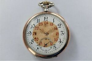 1900 GOLD AND SILVER CASED OMEGA 15 JEWELLED SWISS LEVER POCKET WATCH WORKING