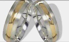 Mw100 - 1 unid. señora anillo, anillo de bodas,, boda, alianza, plata/oro 333 mass. + clandestinamente.