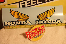 "Honda 1975 1976 1977 MR175 factory fuel tank wings 5 3/16"" x 3 1/4"" Old School"