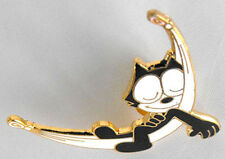 FELIX THE CAT sleeping relaxing pin mint licensed 1988 FRANCE cool item L@@K