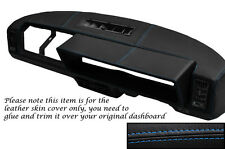 BLUE STITCHING FITS  FIAT X1/9 X19 DASH DASHBOARD LEATHER SKIN COVER ONLY