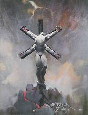 "1985 Full Color Plate ""Alien Crucifixion"" by Frank Frazetta Fantastic GGA"
