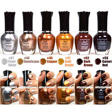 Kleancolor Nail Polish MOONRISE FEVER Silver Gold Brown Collection Lot 6 Lacquer