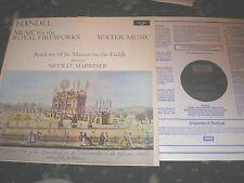 HANDEL MUSIC FOR THE ROYAL FIREWORKS WATER MUSIC NEVILLE MARINER ARGO ZRG 697