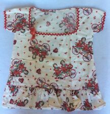 Euc Vintage Girls Tandem Bicycle Flowers Clothes pin Bag
