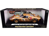 1966 FORD GT-40 MK II #5 GOLD AFTER RACE 1/18 DIECAST SHELBY COLLECTIBLES SC430