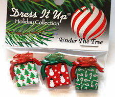 Under the Tree / Christmas Presents Dress It Up Holiday Buttons / Jesse James
