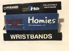 Adventure Time Help Homies  rubber wristband in blue