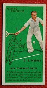 Tennis Technique  Low Forehand Drive    Original 1930's Card