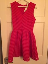 H&M Red Fit And Flare Mini Dress. Size 12. Brand New With Tags