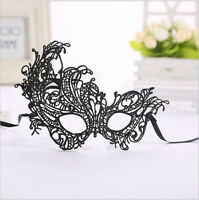 Black Masquerade Women Ladies Lace eye mask Costume Party Fancy Dress Ball