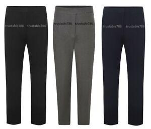 Girls Half Elasticated Waist Smart School Uniform Trousers Bottom (UK Made)