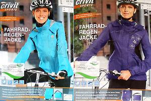CRIVIT Damen Fahrrad Regenjacke Laufjacke Sportjacke Jacke Fahrradjacke NEU