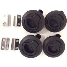 4PCS Black ABS / Plastic Boat Deck Hatch 1/2'' Door 2'' Flush Pull Slam Latch