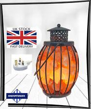 Himalayan Salt Lamp Metal/ Iron Lantern Lamp Filled with Salt Chunks
