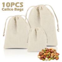 10X sacs de stockage poche cordon sac à linge Sac en coton rangement voyage